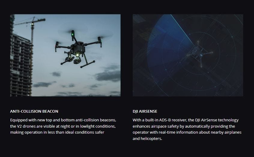 Anti-Collision Beacons and DJI AirSense